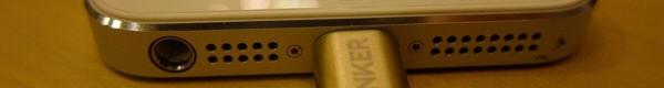 Anker 高耐久ナイロン ライトニングUSBケーブルが高級感があっていい感じ