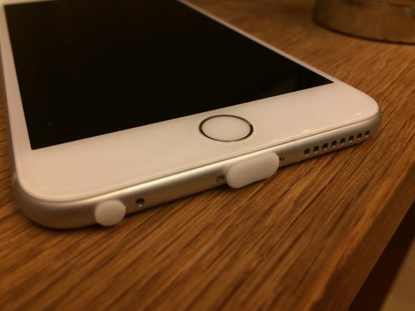 iPhone5 / iPhone5S 防塵端子シリコンカバー(Lightningコネクタカバー・イヤホンジャックカバー/SIMトレイ用イジェクトピン付き) (ホワイト