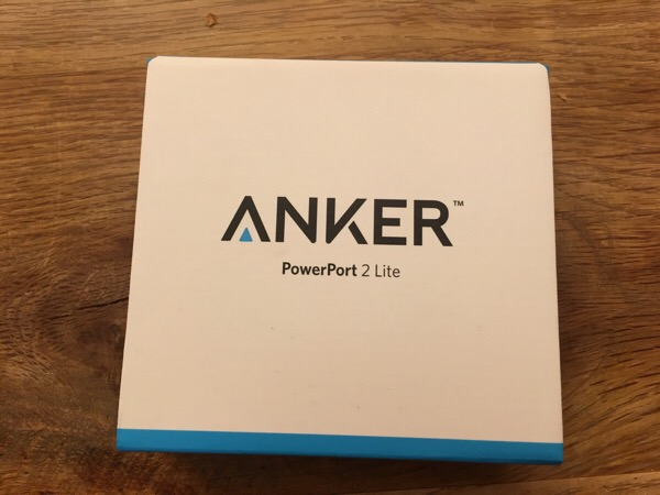 ANKER PowerPort2が予想以上にコンパクト充電器だった