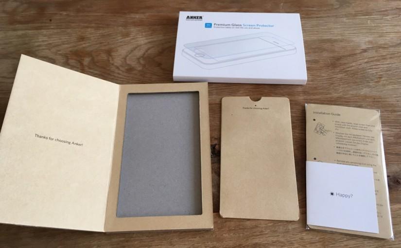 ANKERのiPhone5(SE)用の強化ガラス液晶保護フィルムが普通に良かった