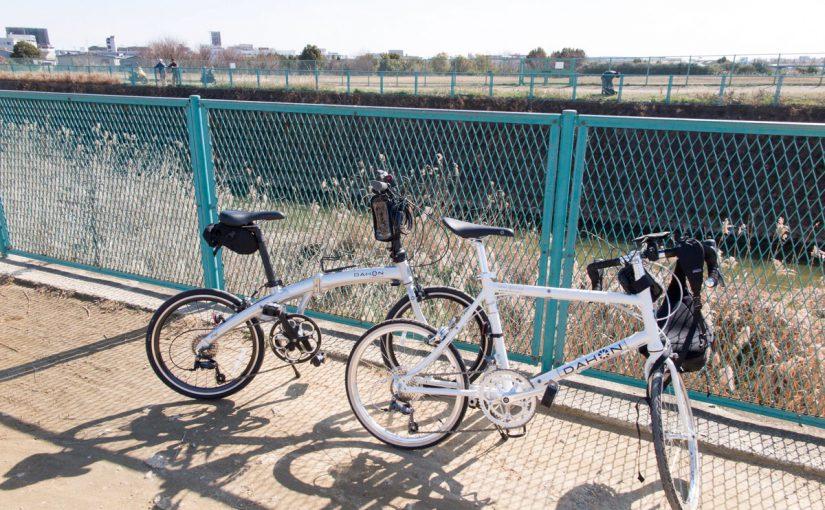 伊丹空港までDAHONでサイクリング