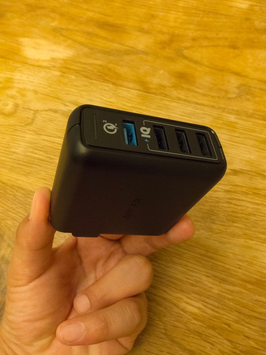 Anker PowerPort Speed 4 (QC3.0搭載、43.5W 4ポート USB急速充電器