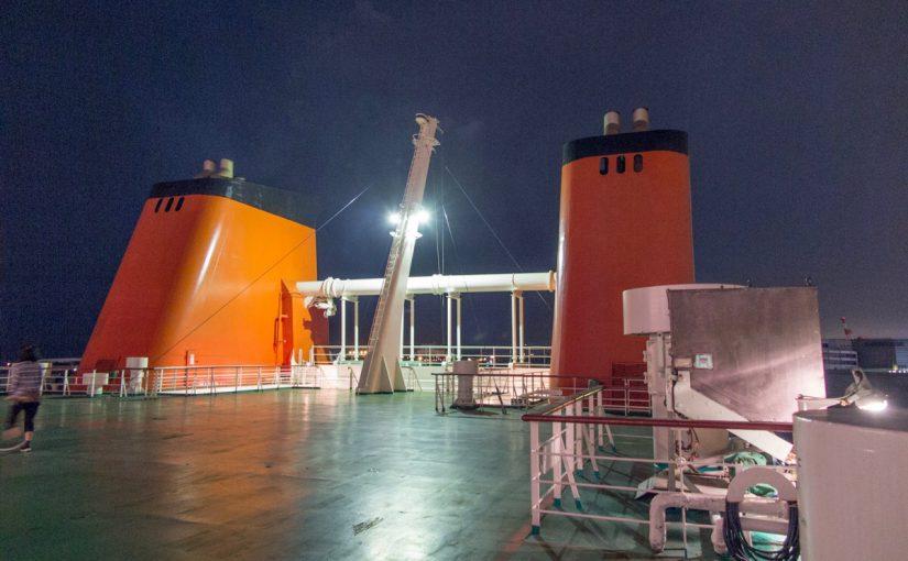 オレンジフェリー(南港→東予港)に輪行で乗船してみた
