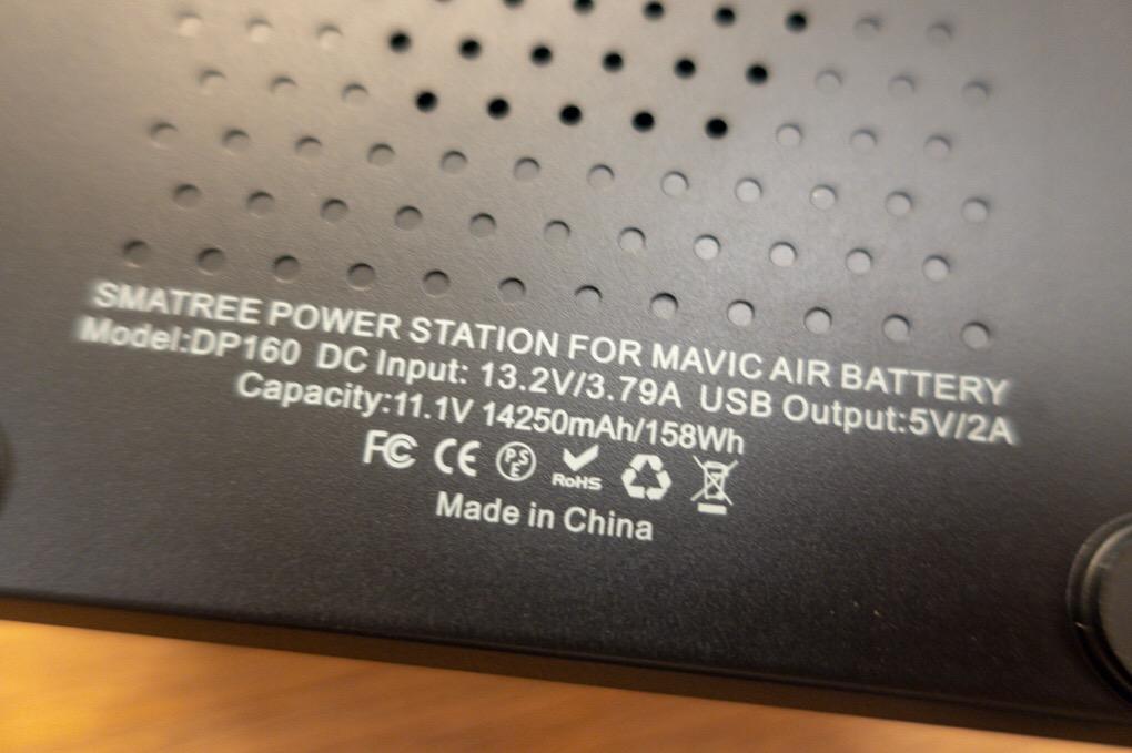 Smatree DP160 DJI Mavic Airバッテリー用急速充電器