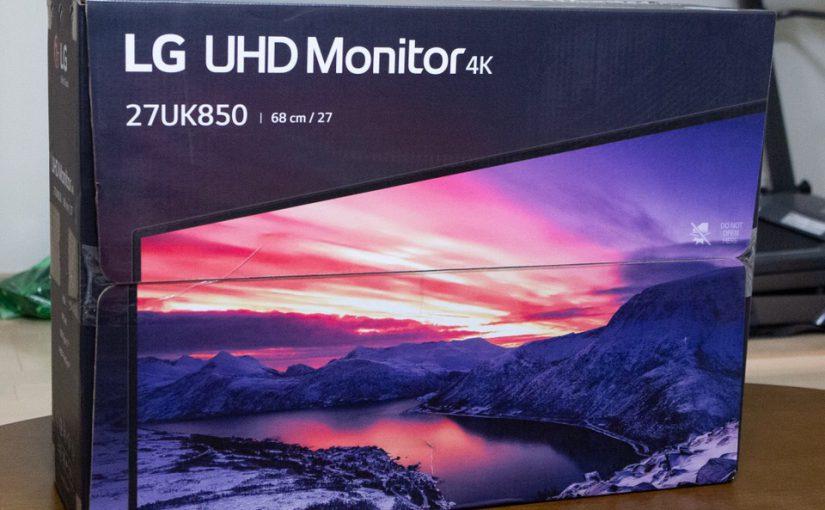 LG モニター ディスプレイ 27UK850-Wをプライムデーで入手