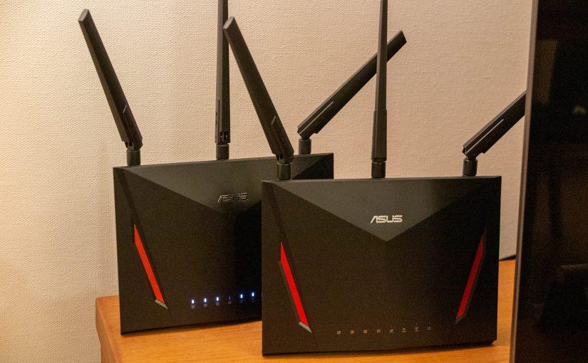 ASUSのゲーミングルーターx2で自宅のWi-Fi環境をメッシュ化してみた